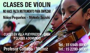 Clases de violín - Prof. Collado