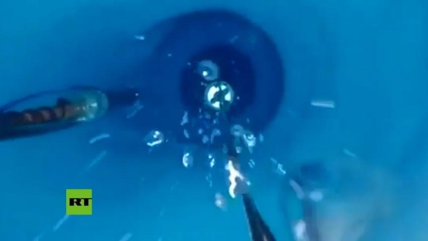 Bajan una cámara a 650 metros de profundidad bajo el hielo antártico
